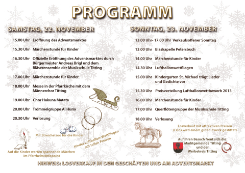 Programm Adventsmarkt
